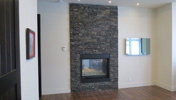 fireplace brick home